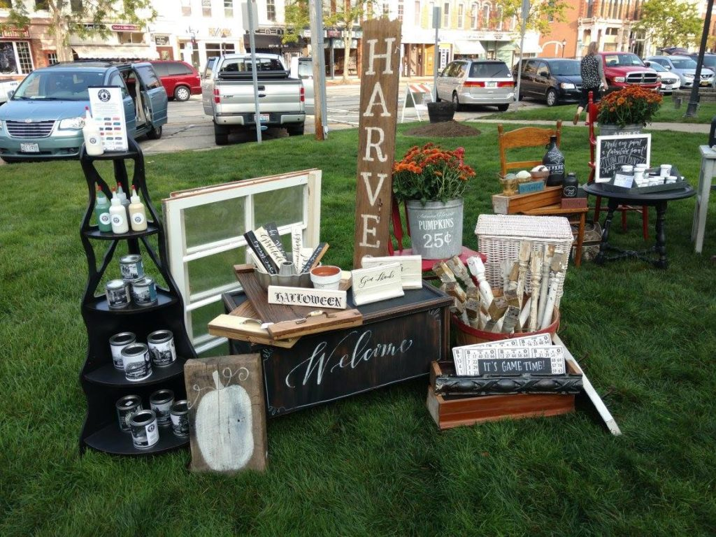 Chalk painted signs