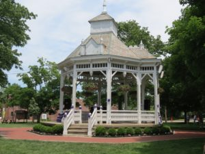 Gazebo on Chardon Square in summer