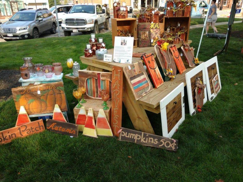 Pumpkin themed handmade wooden signs