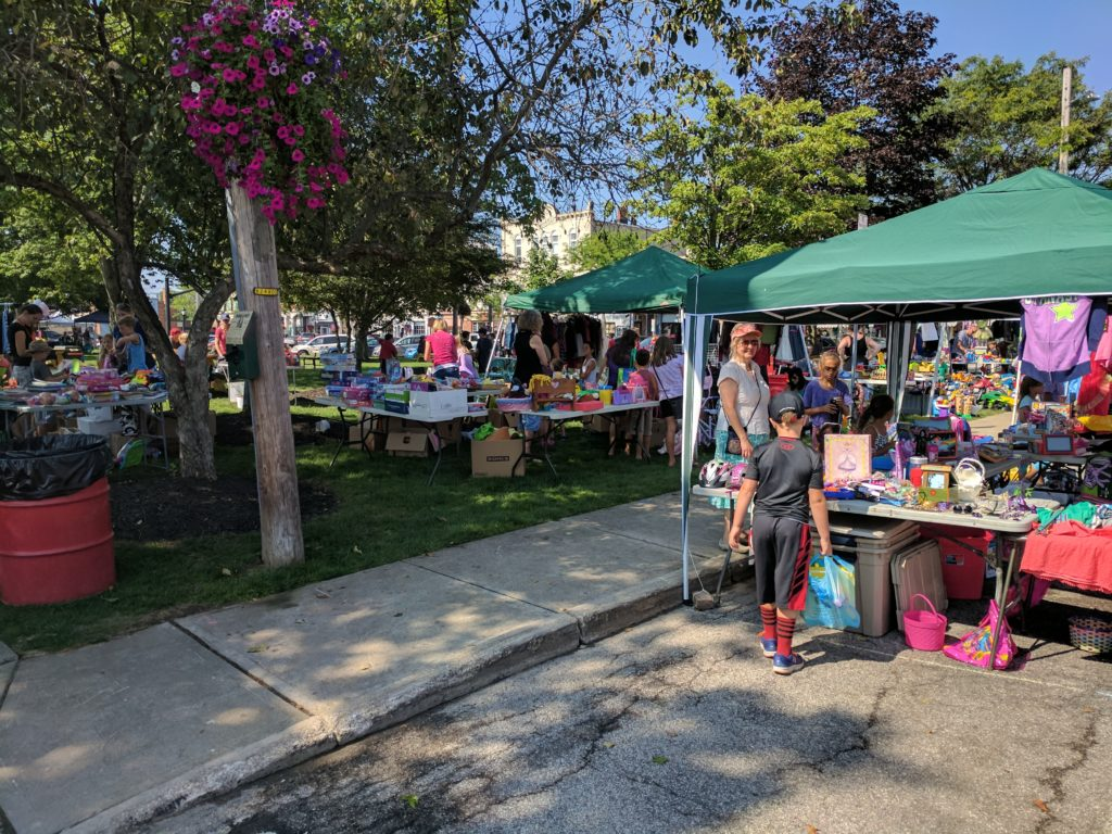 Kids flea market booths