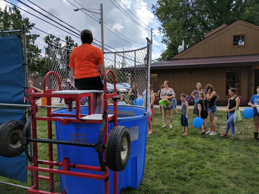 Chardon teachers in the dunk tank