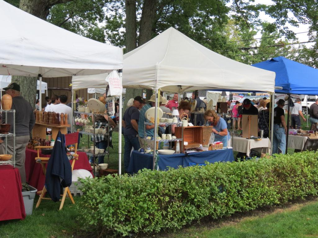 Vendor tents at arts festival