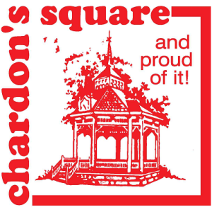 Chardon Square Association red logo