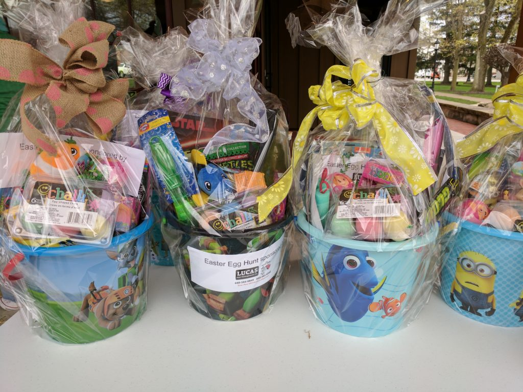 Easter egg prize baskets